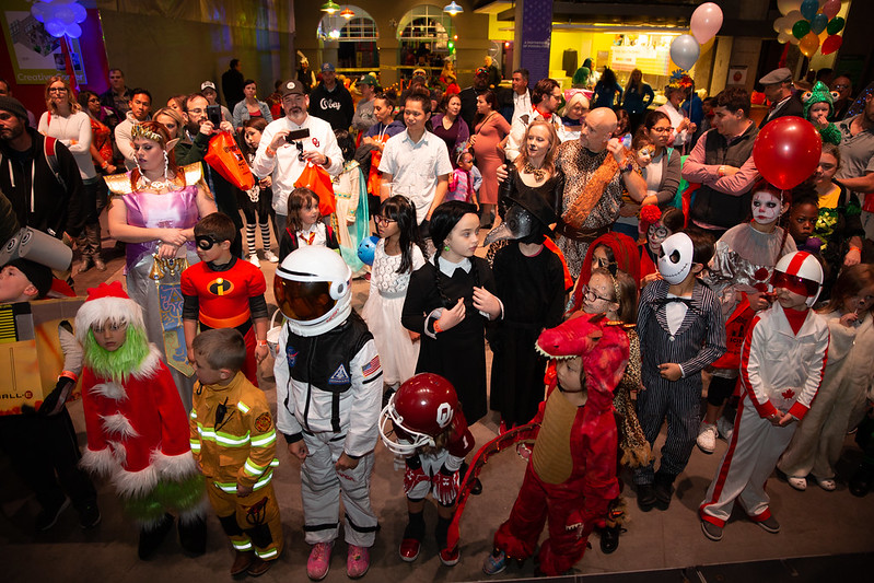 image of children in costumes from spookfest 2019